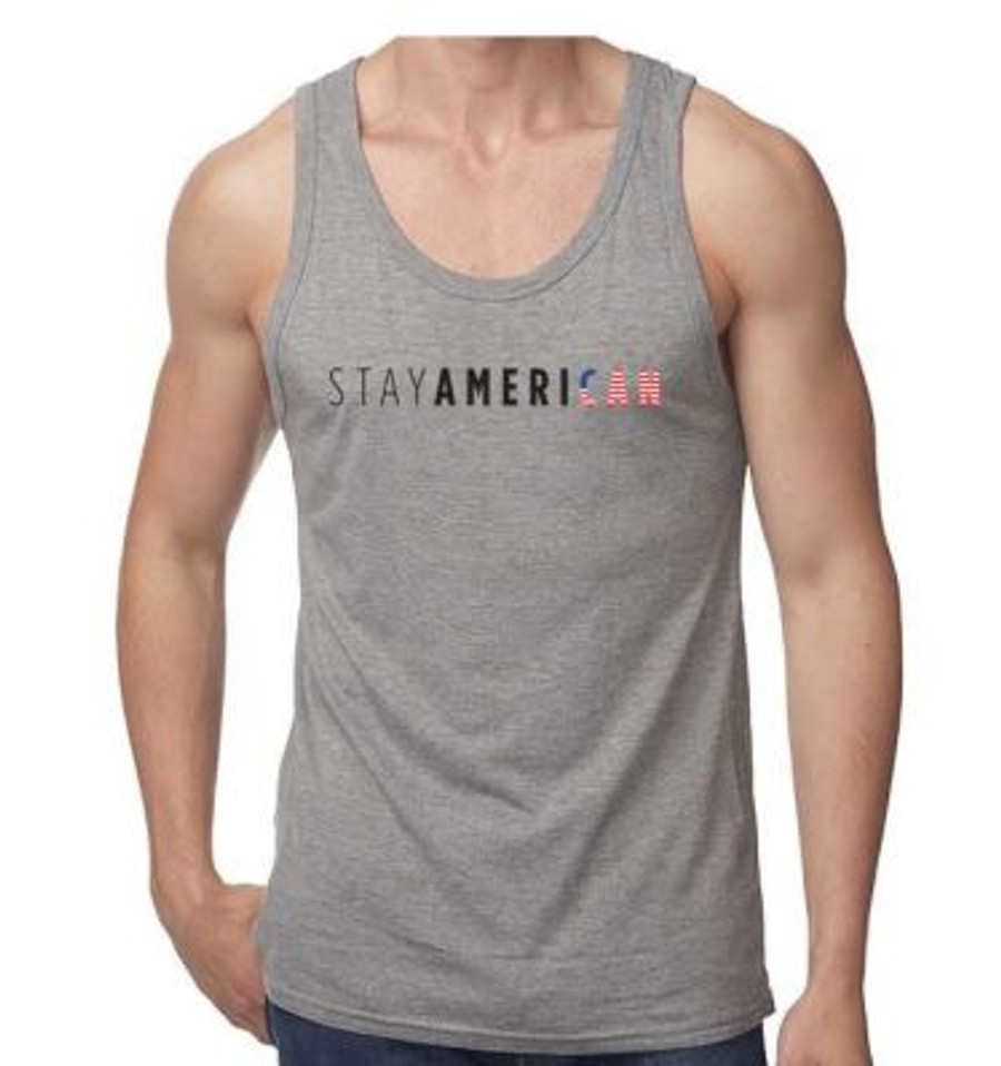 Gray Stay American Tank Top - Unisex