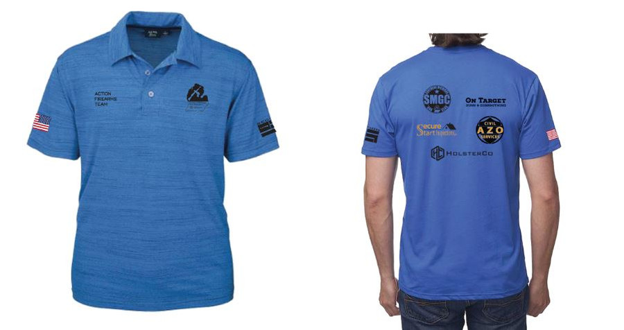 SMGC Action Firearms Team Polo - Blue