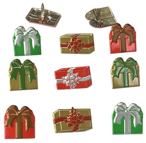 6 Pack Eyelet Outlet Shape Brads 12/Pkg-Gift Box -QBRD2-129 - 810787025802