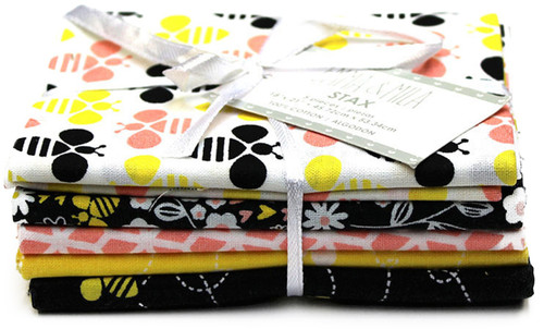 "4 Pack Camelot Fat Quarter Bundle 18""X21"" 5pcs-Emma & Mila Bees And Florals Multi -41170204 - 678361951752"