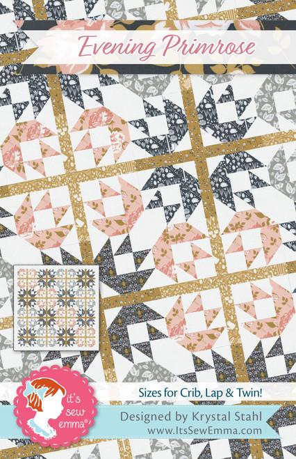 It's Sew Emma Quilt Pattern-Evening Primrose -ISE255 - 672975768652
