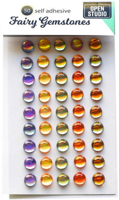 Memory Box Self-Adhesive Fairy Gemstones 50/Pkg-Treasure Chest -GEM101 - 873980257012