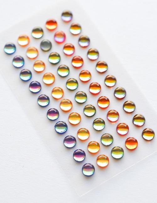 Memory Box Self-Adhesive Fairy Gemstones 50/Pkg-Treasure Chest -GEM101
