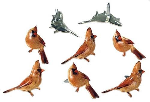 6 Pack Eyelet Outlet Shape Brads 12/Pkg-Female Cardinal -QBRD2-193 - 810787025833