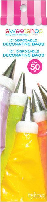 """Sweetshop Disposable Decorating Bags 16"""" 50/Pkg-5002079 - 816350020793"""