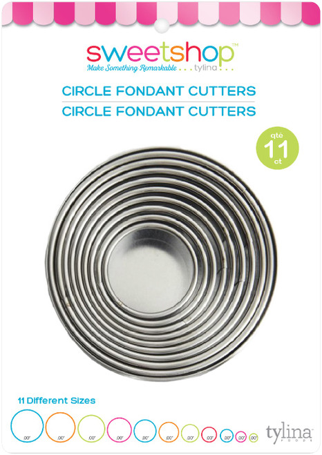 Sweetshop Fondant Cutters 11/Pkg-Circle -5002084 - 816350020847