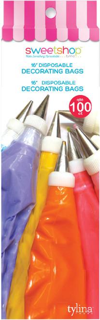 """Sweetshop Disposable Decorating Bags 16"""" 100/Pkg-5002080 - 816350020809"""