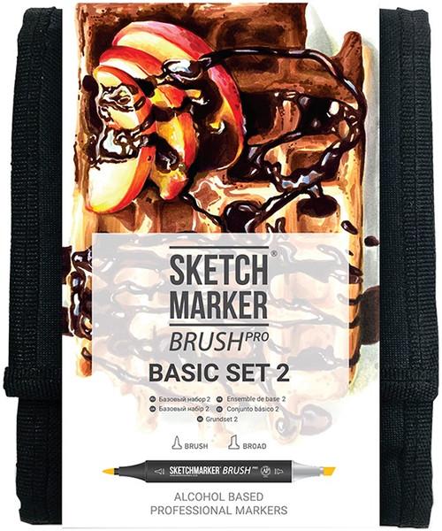 Sketchmarker Brush Pro Set 12/Pkg-Basic Set 2 -SMBBAS2 - 5013720468987