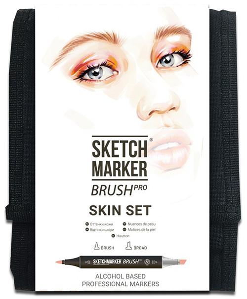 Sketchmarker Brush Pro Set 12/Pkg-Skin -SMBSKIN - 5013720450081