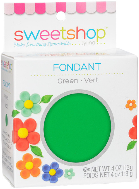 Sweetshop Fondant 4oz-Green -5002035 - 816350020359