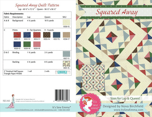It's Sew Emma Quilt Pattern-Spirited Away Lap Quilt -ISE242 - 672975236281