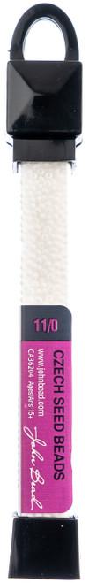 3 Pack John Bead Czech Seed Beads 24g-11/0 Opaque White -63210001-0849 - 665772150249