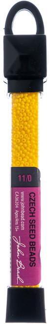 3 Pack John Bead Czech Seed Beads 24g-11/0 Opaque Golden Yellow -63210001-0834 - 665772150096