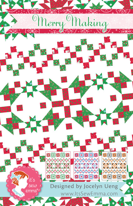 2 Pack It's Sew Emma Quilt Pattern-Merry Making -ISE247 - 672975768331
