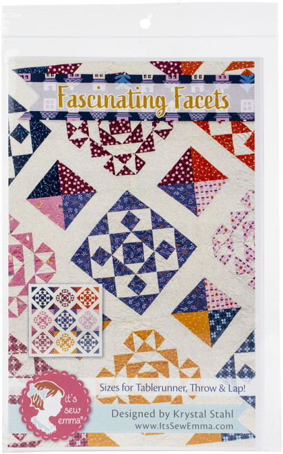It's Sew Emma Quilt Pattern-Fascinating Facets -ISE239 - 672975236137