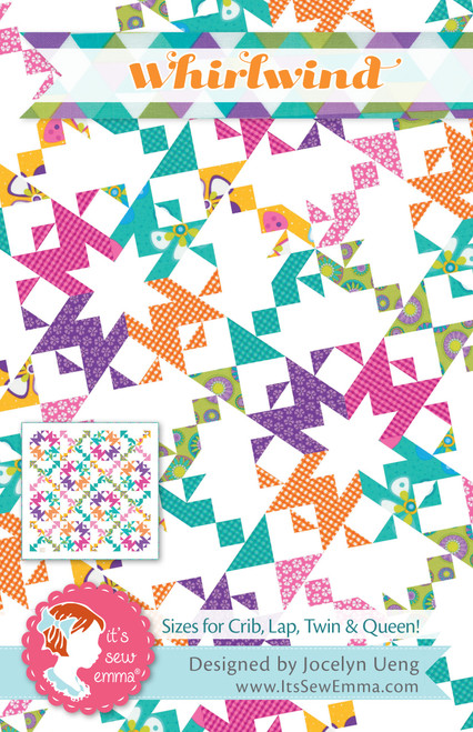 It's Sew Emma Quilt Pattern-Whirlwind -ISE249 - 672975768461