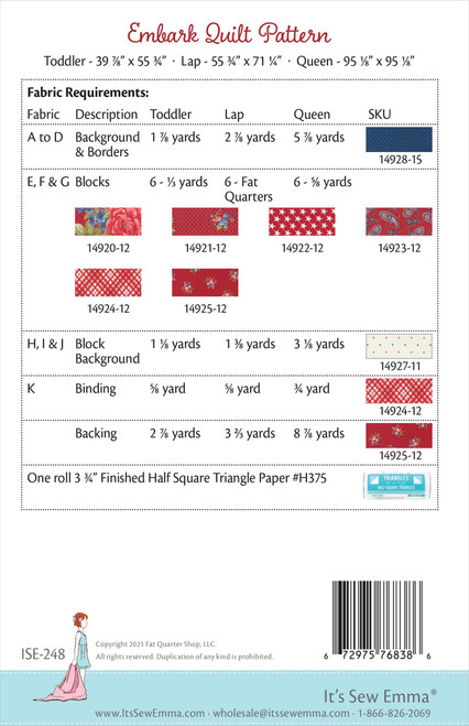 2 Pack It's Sew Emma Quilt Pattern-Embark -ISE248