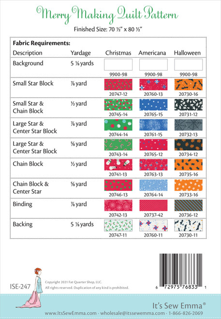 It's Sew Emma Quilt Pattern-Merry Making -ISE247