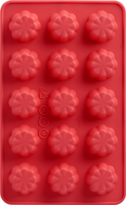 2 Pack Silicone Chocolate Mold 2/Pkg-Flower -09916008