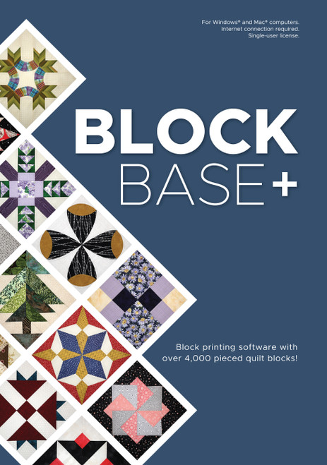 Electric Quilt Blockbase+ Software-For Mac And Windows -A-BBASE - 657920443556