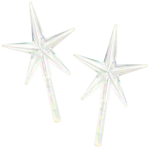 "Ceramic Christmas Tree Stars 2.75""X1.875"" 2/Pkg-Iridescent -40000458"