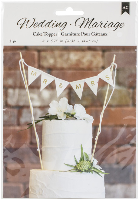 Mr. And Mrs. Cake Topper Bunting-310375 - 718813103756