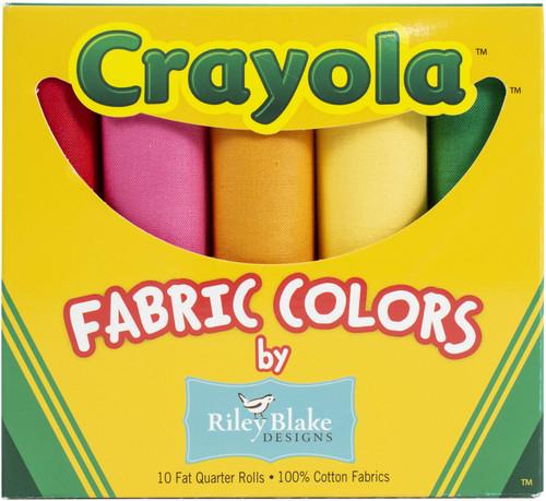 "Riley Blake Fat Quarter Box 18""X21"" 10pcs-Crayola Solids -CR120FQB - 889333029205"