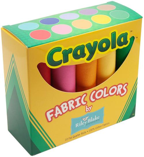 "Riley Blake Fat Quarter Box 18""X21"" 10pcs-Crayola Solids -CR120FQB"