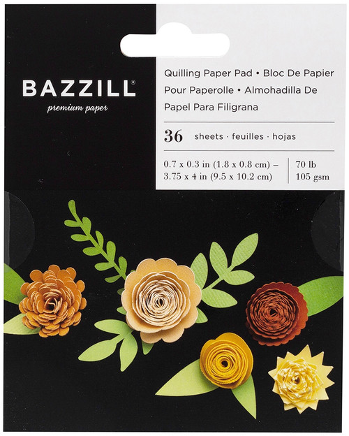 3 Pack Bazzill Quilling Paper Pad 36/Pkg-Buttercup -BZQUILPP-00127 - 846523001274