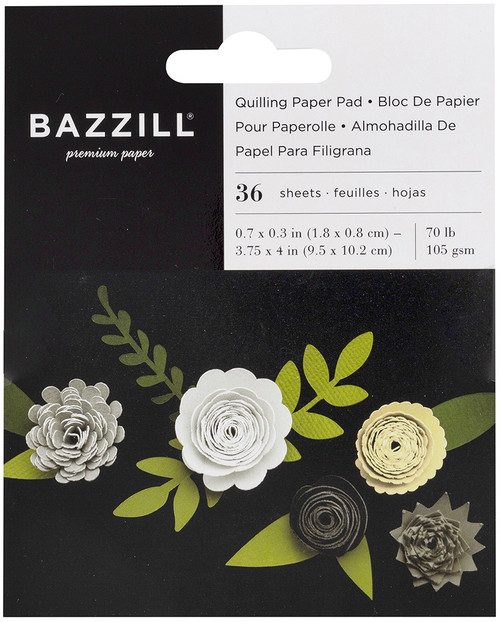 3 Pack Bazzill Quilling Paper Pad 36/Pkg-Neutral -BZQUILPP-00130 - 846523001304