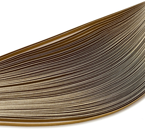 3 Pack Bazzill Quilling Strip Paper Pack 100/Pkg-Gold -BZQUILST-00124