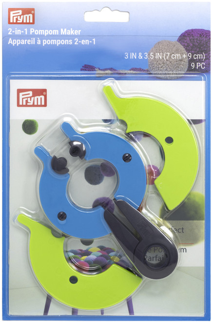 """Dritz Pompom Maker 2-In-1 -Large 3"""" To 3.5"""" -57111 - 089516571112"""