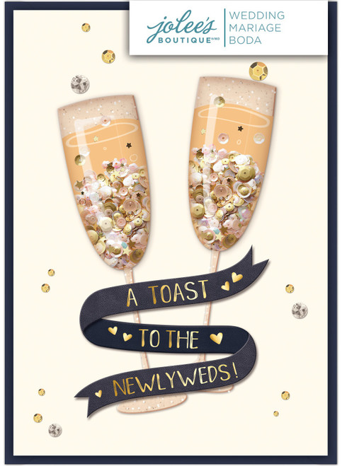 Jolees Boutique Greeting Card-Toast -E8600-470