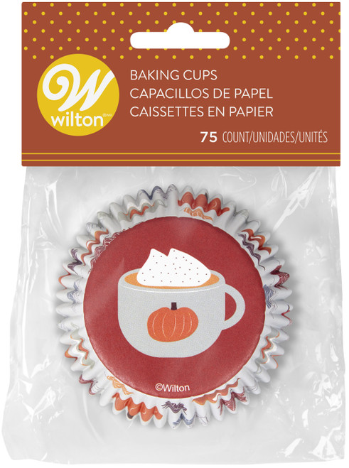 6 Pack Standard Baking Cups-Welcome Fall 75/Pkg -W415329 - 070896086563