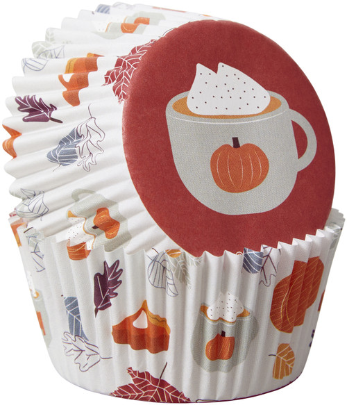 6 Pack Standard Baking Cups-Welcome Fall 75/Pkg -W415329