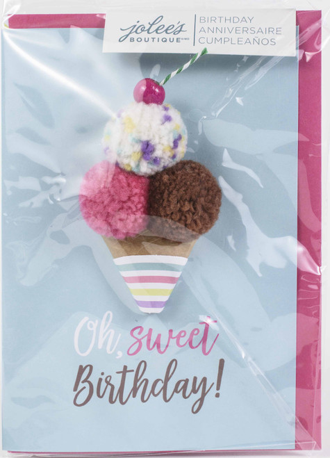 Jolees Boutique Greeting Card-Oh Sweet Birthday -E8600-463 - 015586004632