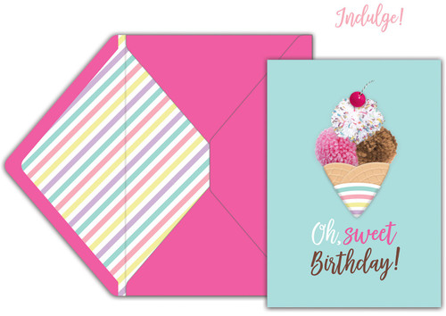 Jolees Boutique Greeting Card-Oh Sweet Birthday -E8600-463