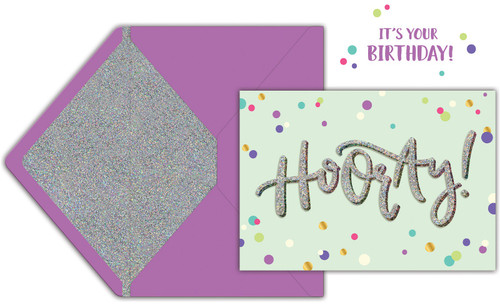 Jolees Boutique Greeting Card-Hooray -E8600-461