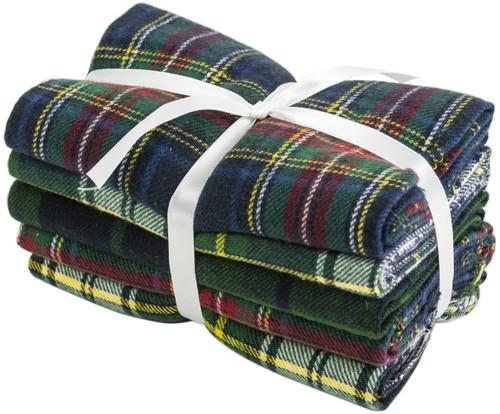 "Fabric Palette Fat Quarter Assortment 18""X21"" 5/Pkg-Yarn-Dyed Flannel -MDGBND64 - 699919050253"
