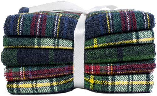 "Fabric Palette Fat Quarter Assortment 18""X21"" 5/Pkg-Yarn-Dyed Flannel -MDGBND64"