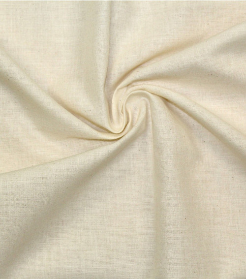 "Hanes Fabrics Cotton Muslin 36/38""X15yd D/R-Unbleached/Natural -70025 - 720305702255"