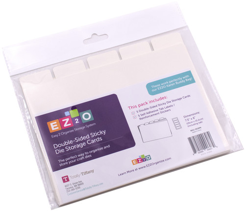 "Totally-Tiffany Easy To Organize Sticky Die Storage Cards-Double-Sided 7.5""X6"" 5/Pkg -DC5PK"