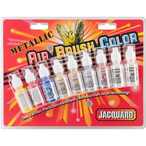 3 Pack Jacquard Metallic Airbrush Color Pack .5oz 9/Pkg-JAC9936 - 743772993605