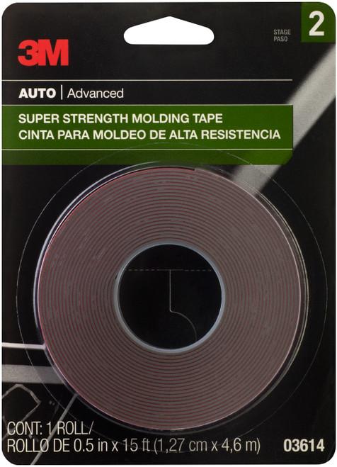 "2 Pack 3M Super Strength Molding Tape .5""X15'-03614 - 051131036147"