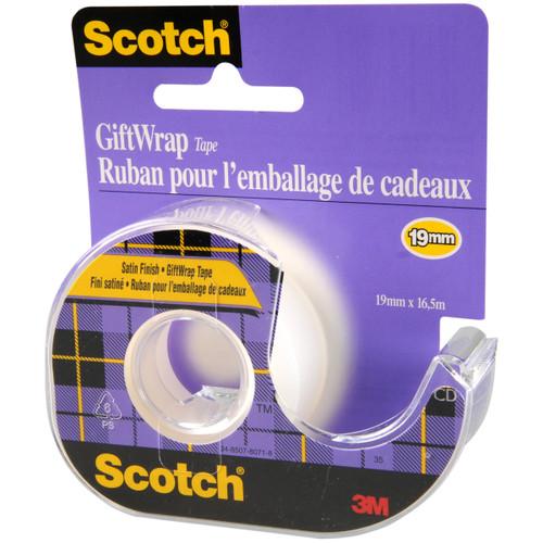 "6 Pack Scotch Gift Wrap Tape-.75""X650"" -15-3M"