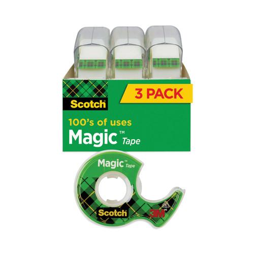 """3 Pack Scotch Magic Tape-.75""""X300"""" 3/Pkg -3105-3M - 051131576346"""