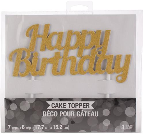 6 Pack Happy Birthday Cake Topper-324540 - 039938416355