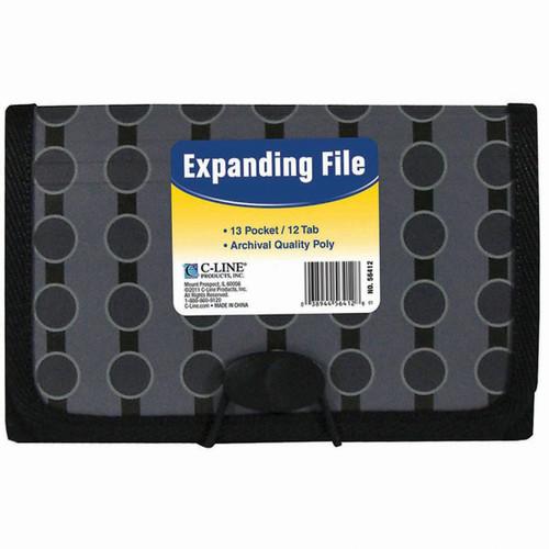 3 Pack 13-Pocket Coupon Expanding File-Circles -56412 - 038944564128
