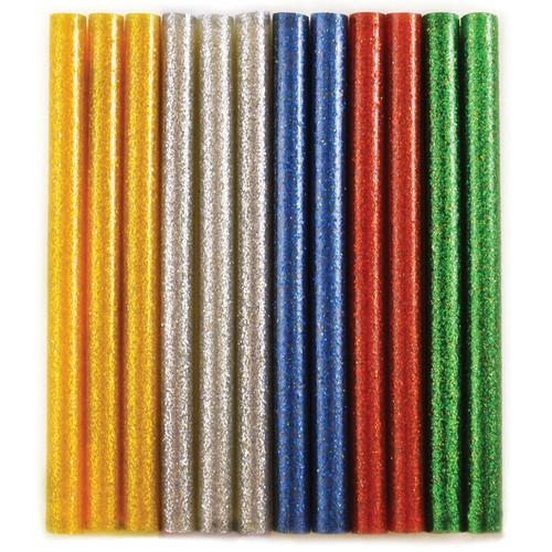 "6 Pack Craft Medley Dual-Temp Mini Glitter Glue Sticks-.27""X4"" 12/Pkg -GL680"