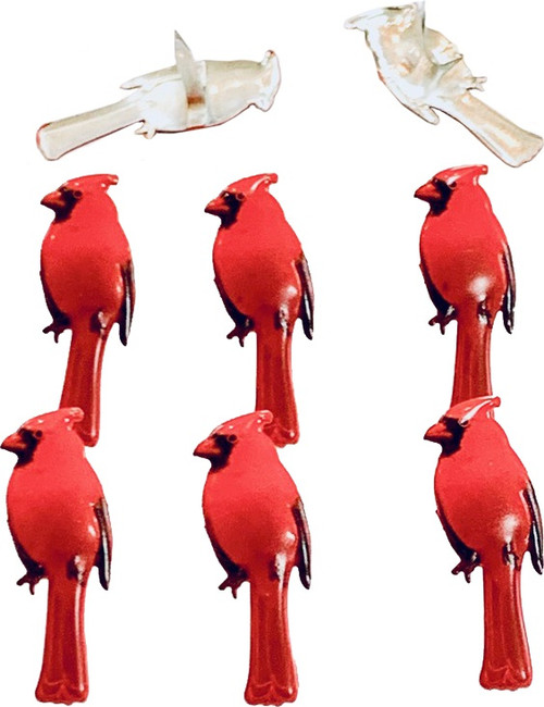 Eyelet Outlet Shape Brads 12/Pkg-Cardinal -QBRD2-98 - 810787025635